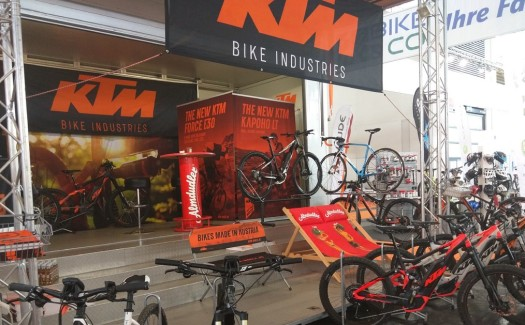 Frühlingserwachen, KTM-Bikes, Showtruck, Eventmobil, Showroom, Aktion